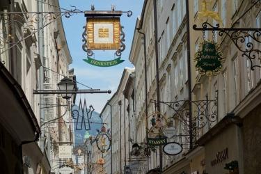 romantické uličky Salzburgu