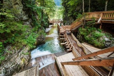 Údolím řeky Medling a soutěska Wasserlochlkamm